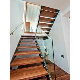 Escaliers droits d'intérieur/échelle d'opération en bois