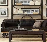 Der Dachboden-amerikanische Wind, der alte Methoden, bearbeitetes Eisen-festes Holz-Sofa-Industrie-kreatives Wohnzimmer-Sofa der Kaffee zurückstellt, hält Sofa-Stuhl ab (M-X3515)