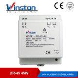 최신 판매인 DIN 가로장 전력 공급 45W 24V 박사 45