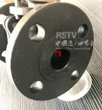 Aço Carbono Wcb 150lb 2PC Válvula Esférica Flangeada