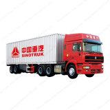 3つの車軸貨物Box TrailerヴァンTruck Semi-Trailer