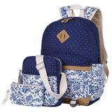 Teenager-Rucksack-gesetzte Segeltuch-Mädchen-Schule-Beutel, Bookbags 3 in 1