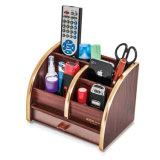 Desktop Wooden Office Stationery Storage Holder