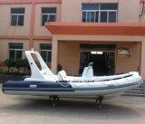 bateau de pêche gonflable de coque de fibre de verre de bateau de côte de 3.3-8.3m Hypalon