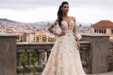 Robe nuptiale de robe de mariage de bille de perle de lacet de qualité