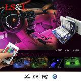 Coche flexible de la atmósfera de la decoración de la lámpara multicolora del coche que labra la luz de tira del RGB LED