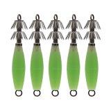 Le palan de pêche lumineux de simulation leurre des attraits de turlutte avec l'hameçon 14G du crochet 9.5cm