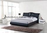 Modulares Holzrahmen-Schlafzimmer-Leder-Bett