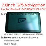 """7.0 """" nel percorso marino di GPS del camion dell'automobile del precipitare con il trasmettitore di FM, macchina fotografica posteriore di Avin DVR, sistema di percorso tenuto in mano di GPS, Bluetooth per il telefono mobile, inseguitore di Tmc, TV"""