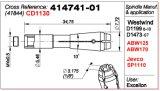 Anello 41844 dell'asse di rotazione del pezzo di ricambio per la macchina utensile del PWB
