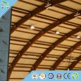 Conseil des matériaux de construction en bois de pin Panneau mural Panneau acoustique