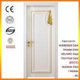Usine intérieure de Foshan de porte en bois solide de couleur blanche européenne de type