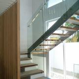 Bricolaje escalones de metal sótano escaleras con barandillas de hierro forjado.