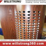 Панель деревянного цвета грецкого ореха пальто PVDF алюминиевая составная