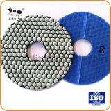 Les plaquettes de polissage de diamant de 7 pouces de pierres de granit de marbre