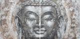 Decoração da parede de Buddha do grupo da pintura a óleo