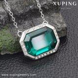 43128 de Gevoelige Kristallen van de Juwelen van de Halsband Xuping van de Grote Groene Halsband van de Steen Swarovski