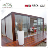 Casa prefabricada prefabricada emparedado modificada para requisitos particulares de Contaienr del rectángulo del protector del bajo costo