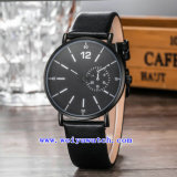Montres-bracelet faites sur commande de mode de montre de quartz de montres pour les hommes (WY-G17011B)