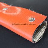 Recubierto de silicona de alta temperatura el manguito de aislamiento de fibra de vidrio