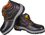 Впрыснутый PU стальной ботинок безопасности пальца ноги
