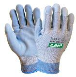 가죽 Plam에 의하여 잘리는 저항하는 반대로 마포 안전 작동 장갑 (세륨 커트 수준 5)