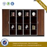 Meuble d'archivage en bois en verre de bibliothèque de mémoire d'étagère d'Alumnium de porte (UL-ND248)