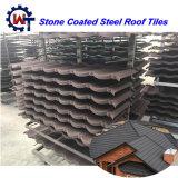 Tegels van het Dak van het Metaal van de Bouwconstructie de Materiële Decoratieve Steen Met een laag bedekte