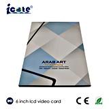 Sell quente 6 cartão do vídeo do LCD do ofício de papel do tamanho da tela A4 da polegada