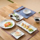 Vaatwerk van het Steengoed van de Sushi van de Ambacht van de Hand van de primula het Japanse Vastgestelde