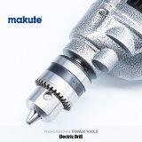 Taladro eléctrico del impacto de la mano de la base del hardware de Makute con la casa de aluminio
