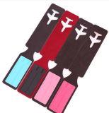 Индивидуальные оптовые дешевые Логотип провод фиолетового цвета кожи тег багажного отделения