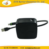 Comercio al por mayor del sistema Android 1-1,5 m de cable de datos ampliable Carrete de cable cargador USB retráctil
