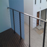 Alambre del balcón del acero inoxidable/pasamano constructivos del cable para la escalera