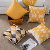 Ammortizzatore di tela del cuscino del sofà della federa del cotone spesso geometrico semplice