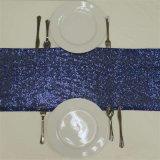При отклонении от нормы свадьбы группа банкетный стол Рождества салазки для проведения свадеб Decoraiton Silver Gold Sequin таблица горячеканальной системы