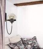 Illuminazione chiara del Home Depot dell'alberino dei ripari Bronze moderni della parete con la tonalità di vetro per la stanza da bagno della camera da letto del salone