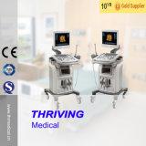 Scanner médical 3D de l'ultrason Thr-Us9902 avec le chariot