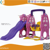 لون قرنفل أرنب أطفال داخليّة بلاستيكيّة أرجوحة ومنزلق