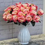 결혼식 대량 싼 백색 로즈 도매 인공 꽃