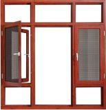 Модные новейшей конструкции из алюминия с остеклением дверная рама перемещена окна
