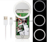 Bague Selfie anneau lumineux à LED lumière LED lumineux sur l'écran Clip Téléphone portable de lumière pour Selfie