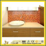 Chinese Kunstmatige Marmeren Countertop van het Kristal met de Gootsteen van de Badkamers (yqg-MC1001)