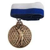 preço de fábrica Custom Bronze medalha de desporto de golfe para decoração (153)