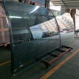 Groot Gebogen Aangemaakt Gelamineerd Besproken Glas met ANSI