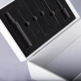 La mejor calidad de papel Boutique cosmética de madera a medida Caja de regalo con soporte de metal