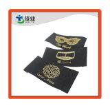 Lámina de oro Peinting personalizada colgar la etiqueta con el paño de la cadena de