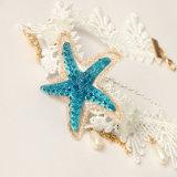 Летом Ocean Blue Star кружева Ожерелья с жемчугом