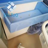 Gabinete de aço laminado da cabeceira do hospital do preço direto da fábrica com rodas