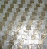 Shell Capiz mosaico amarelo e branco Azulejos Decoração de parede